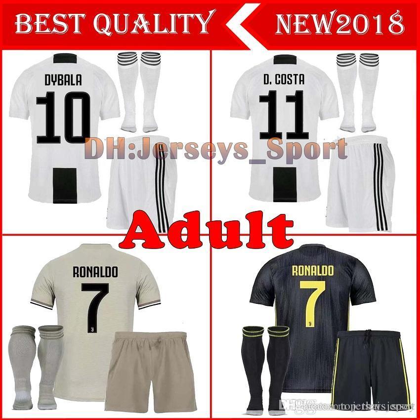 Compre Juventus Soccer Jersey Kits + Calcetines RONALDO 2018 19 Camisetas  De Fútbol Juvenil Camisetas Uniformes 18 19 Camiseta De Fútbol Kit Adulto  Con ... 1596e0d7d05b7
