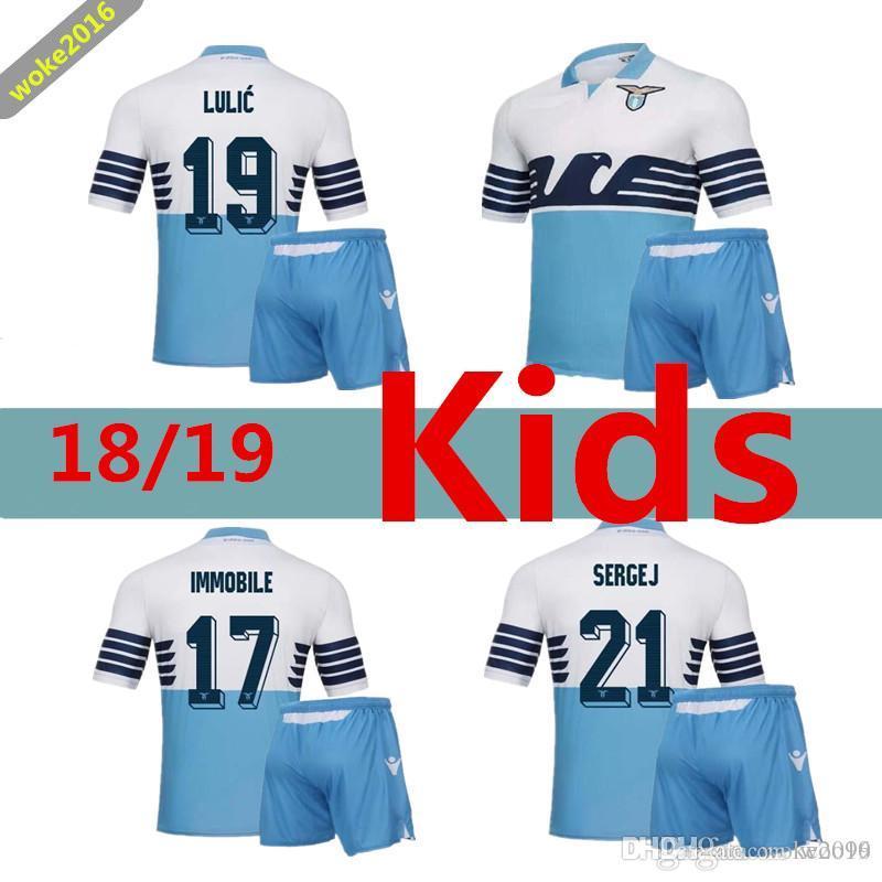 dbc19dfea 18 19 Lazio Football Team Children's Jersey LULIC ROSSI 2018 2019 ...