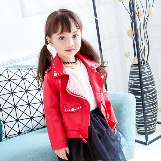 db8b458e Children Leather Coat 2019 Winter Boys Girls Children Windbreaker Coat  Winter Jacket Zipper Black Leather Jacket 3 7T DF135 Boys Fall Jacket  Winter Jackets ...