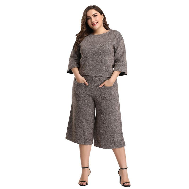 43b31aa74bb 2019 2019 Large Size Jogging Femme Summer Clothes For Women New Two Piece  Set Casual Fashion Suit Ensemble Femme Matching Sets From Estacyliu