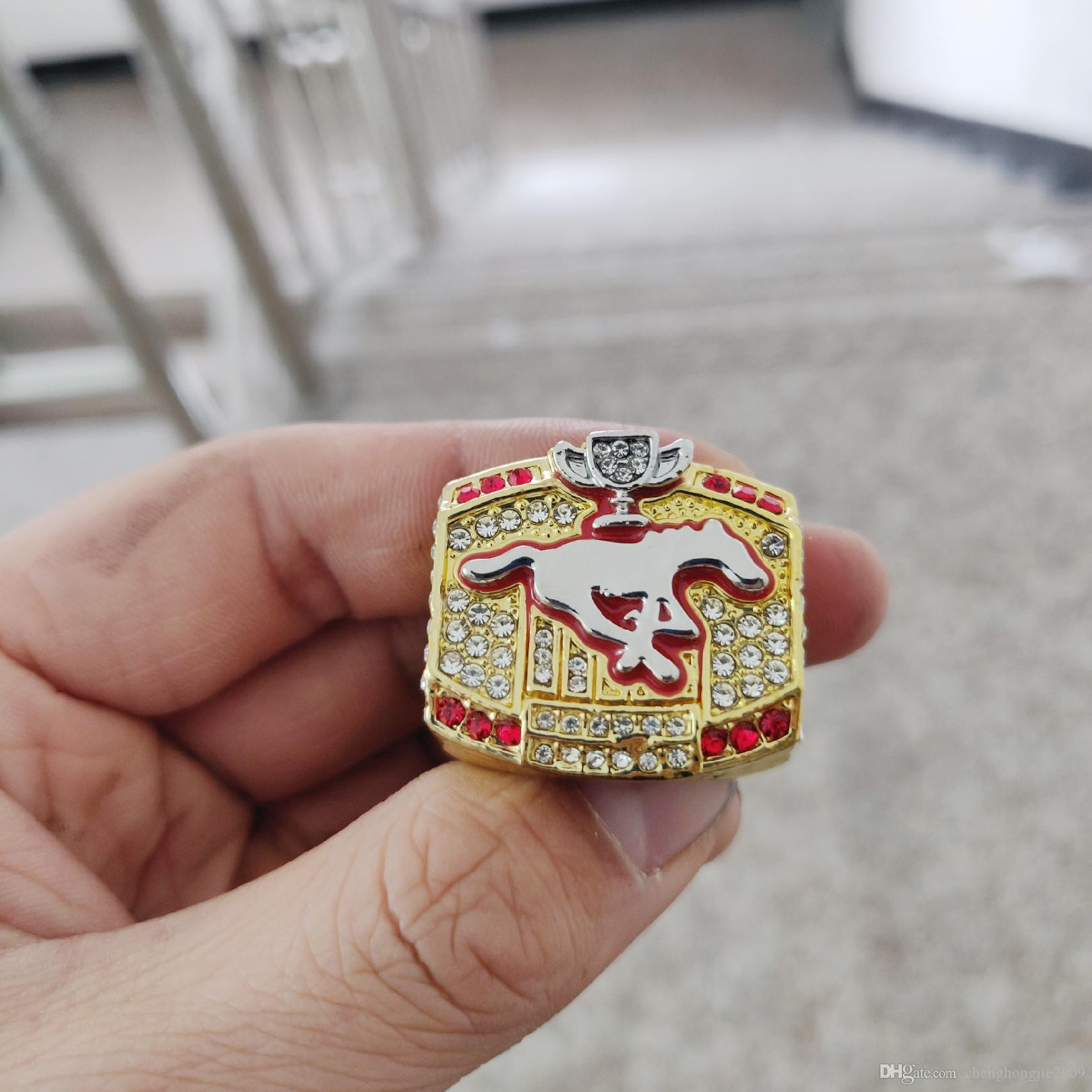 8043b26be284 2019 Wholesale 2008 Calgary Stampeders The 96th Grey Cup Championship Ring  TideHoliday Gifts For Friends UK 2019 From Chenghongjie2009
