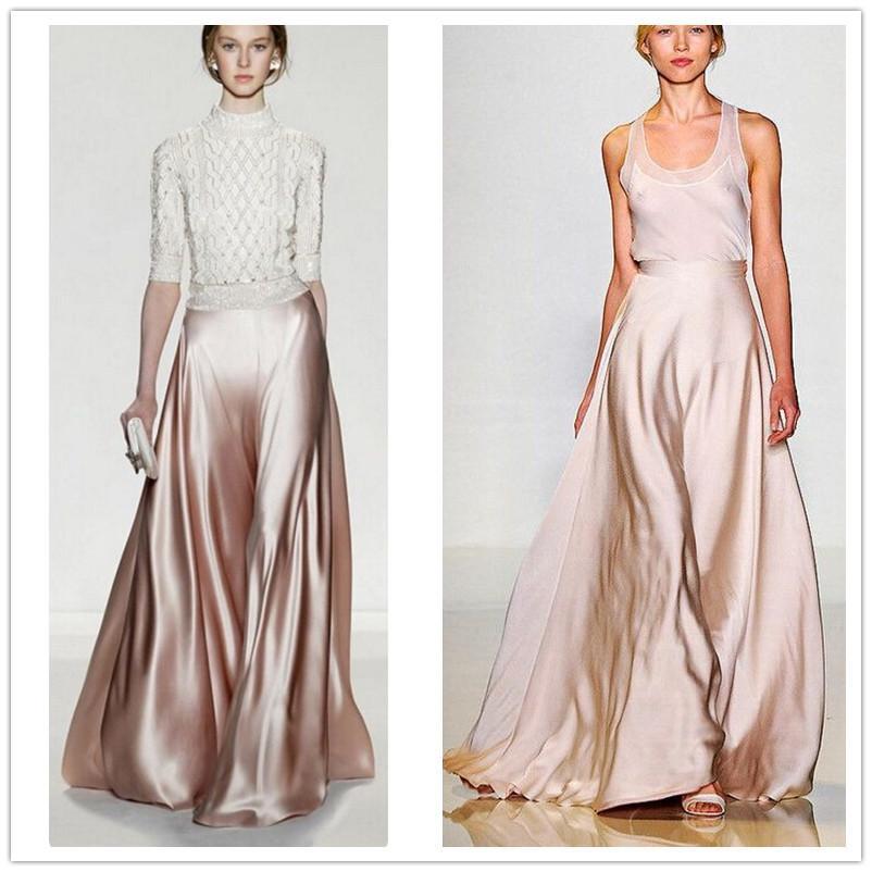 95bf466fa0 2019 Wbctw Summer Bohemian Maxi Skirts Pants Women High Waist Solid ...
