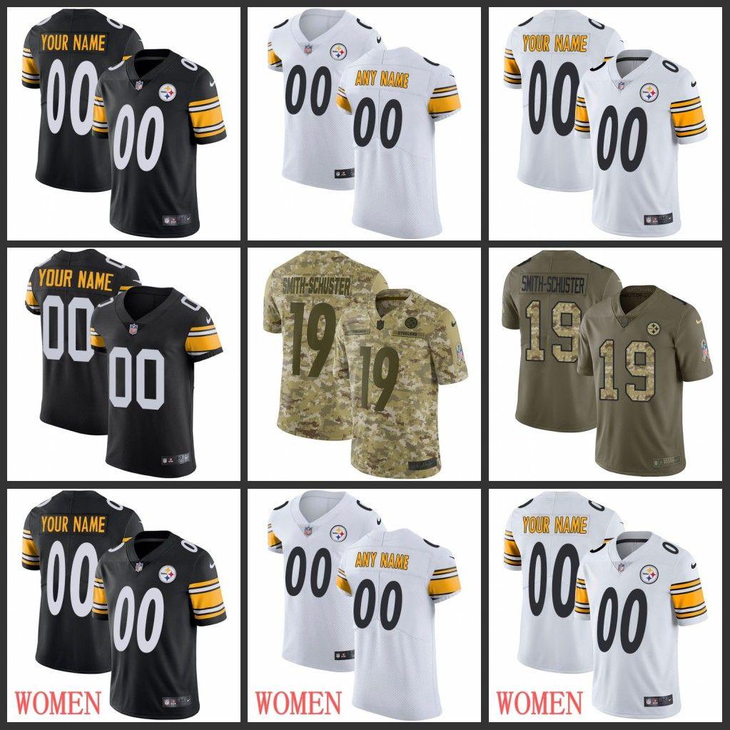 best loved aee35 31199 Custom Juju Smith-Schuster Antonio Brown Pittsburgh 7 Steelers T.J. Watt  James Conner Polamalu Villanueva Ryan Shazier Jerseys Men Women You