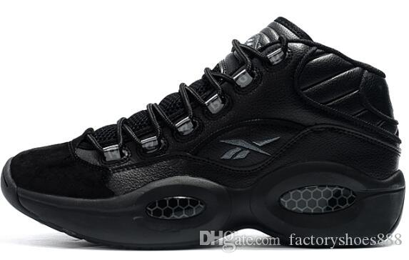 New Arrival 2019 Men Sneakers Question Allen Iverson Classic Basketball  Shoes Good Quality Zapatillas Designer Sneakers Boots EUR 40 46 01 Black  Combat ... 2ee199cde