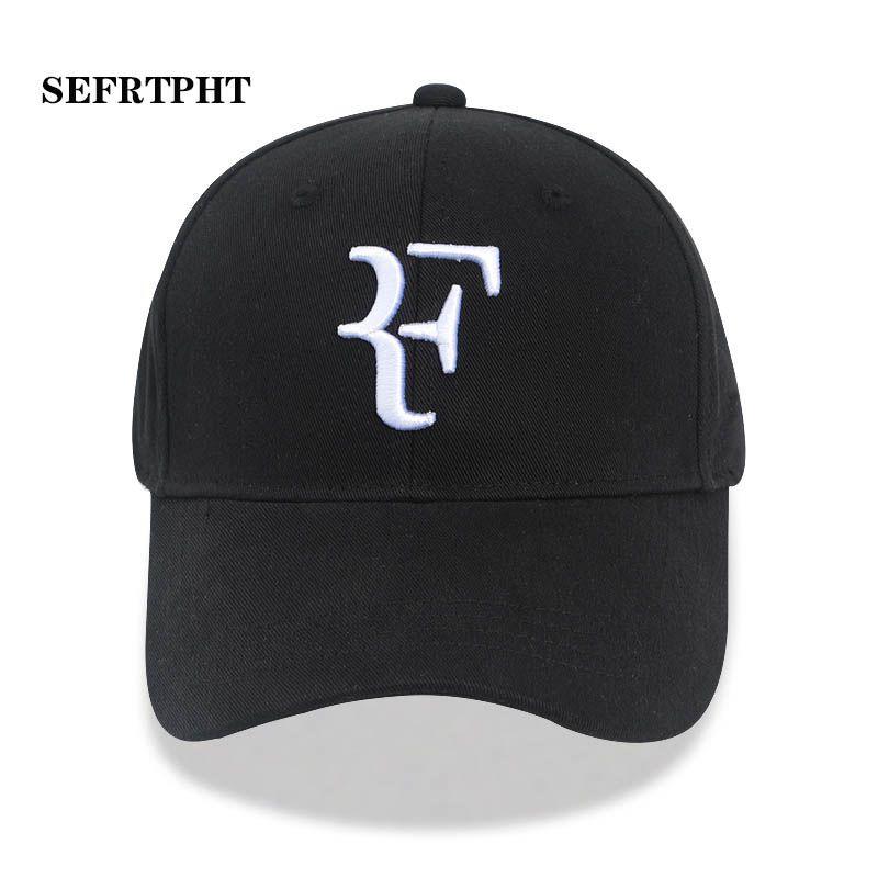 82c8df7e1 2019 Tennis Star Roger Federer Dad Hat Sport baseball cap 100% cotton 3D  embroidery Unisex Snapback caps Tennis hat F Hats bone