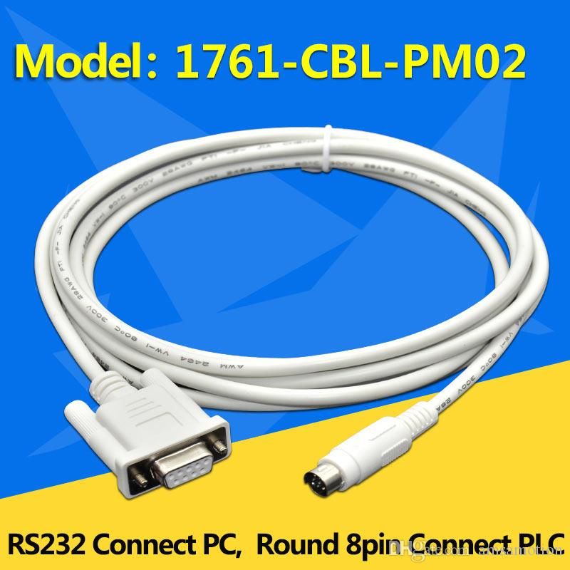 Allen Bradley PLC Programming Cable 1761-CBL-PM02 For MicroLonix  1000/1200/1500 Series PLC DB9 To 8P Male RS232 Cable 1761CBLPM02