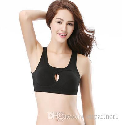 0a596aee1f6 2019 Cotton No Steel Ring Sports Bra Large Size Yoga Underwear Shockproof  Vest Style Gathered Sleep Beauty Back Yoga Bra Breathable From Cnpartner1