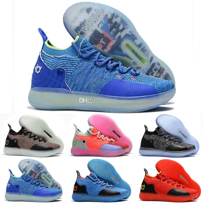 Kids KD 11 Black Men Women Shoes Hot Sales New Kevin Durant 11 Basketball  Shoes Store US4 US12 Basketball Mens Shoes From Cherin 53404d830