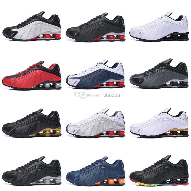 acheter en ligne eb5d5 d443d Zapatos Hombre Shox Men Running Shoes Chaussures R4 Nz Mens Designer  Sneakers Man Sport Trianers Tn Sizes Eur 40-46
