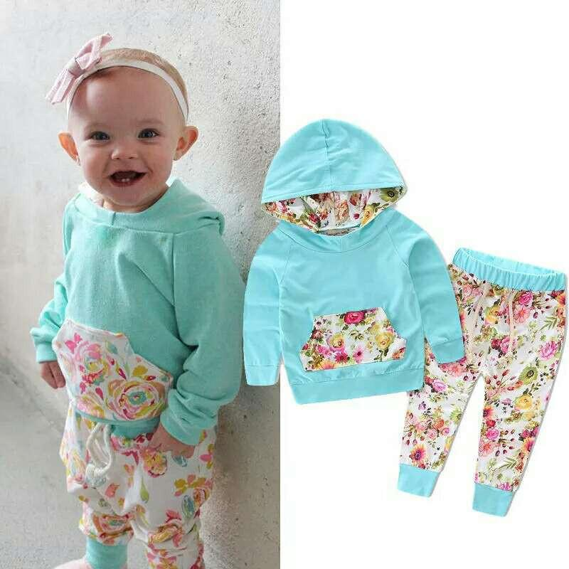 Spring Summer Baby T Shirt Pants Sets Pullover Newborn Tracksuit Kids Clothes Boy Girl Set Hooded Casual Children Clothing Suits