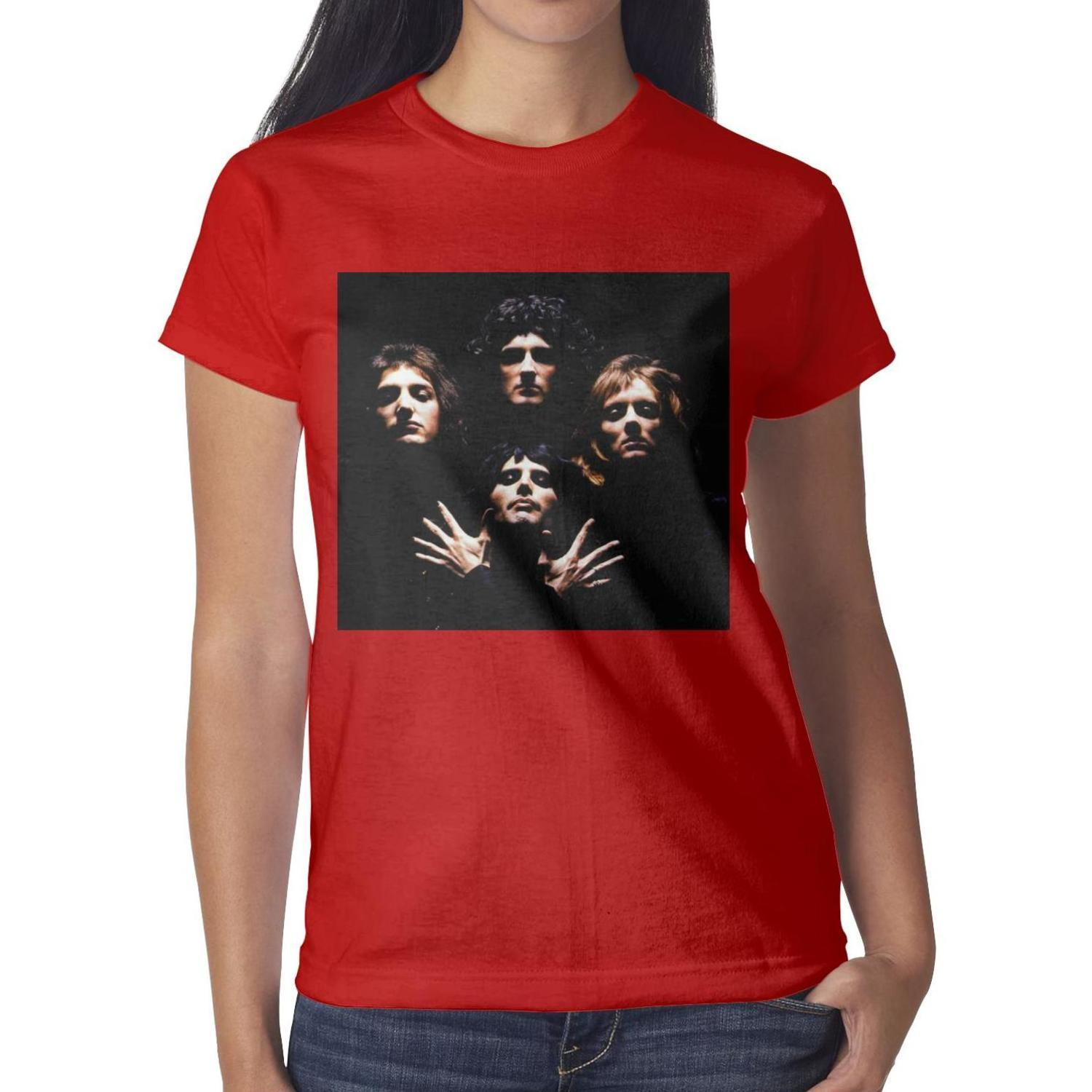 b9114896f Queen The 25 Most Iconic Album Covers Women Tees Comfortable Fitness ...