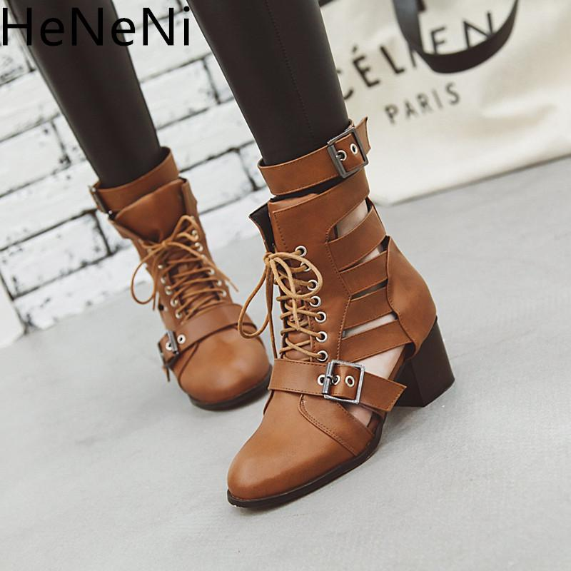 2c2fdeee6ecb ... Summer Boots Women Ankle Boots Leather High Heels Sandals Cross Belt