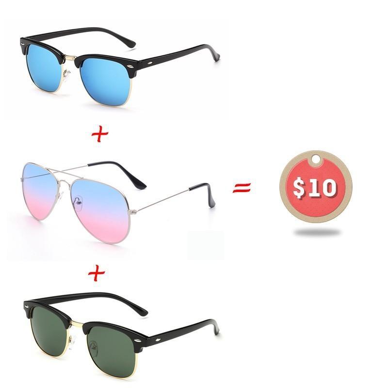 4681ba4021 Set Half Metal Polarized Sunglasses Men Women Brand Designer Glasses Double  Color Glasses Thin Frame Eyewear  10 HN18 Online Eyeglasses Discount  Sunglasses ...
