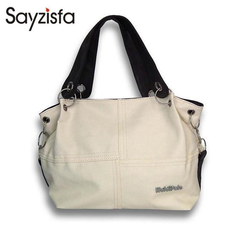 6c945c5dd8cb Women Versatile Handbag Weidi Polo Pu Leather Bags Zipper Messenger Bag  Splice  Grafting Vintage Shoulder Crossbody Bags T605 Cheap Purses Handbags For ...