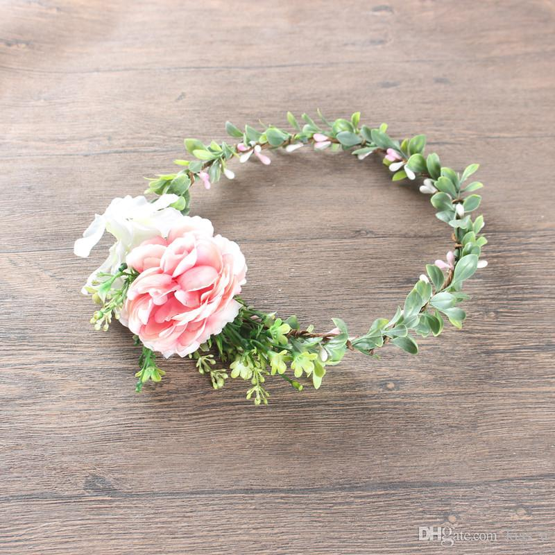 1081a1e7 Flower Headband Hairwear Bridal Hair Ornament Fabric Flower Crown Wedding  Hair Accessories Headbands Floral Head Wreath