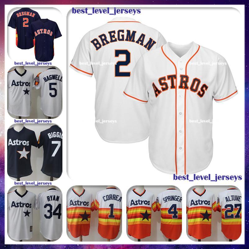 1aab6a234 2 Alex Bregman 27 Jose Altuve Jersey 34 Nolan Ryan 5 Jeff Bagwell ...