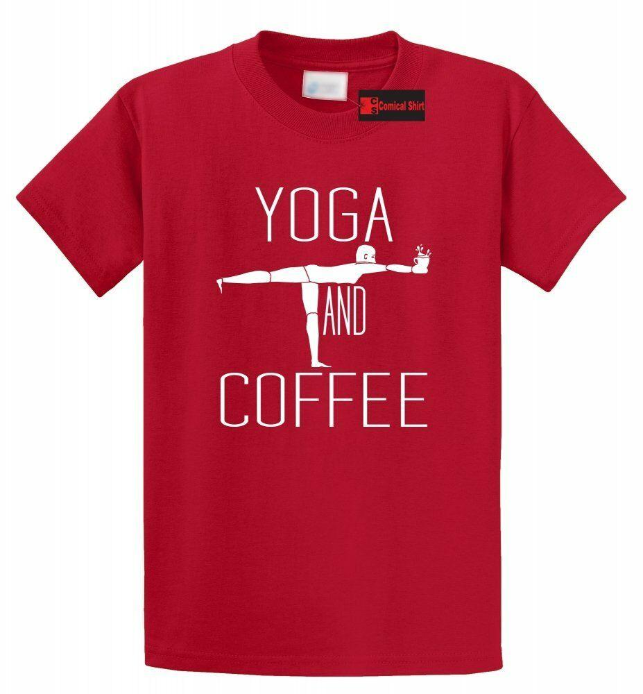f1e4053612e3 Yoga And Coffee T Shirt Cute Yoga Coffee Lover Gift Workout Yogi Tee S  5XLFunny Unisex Casual Top Designer Mens T Shirt Really Cool Sweatshirts  From ...