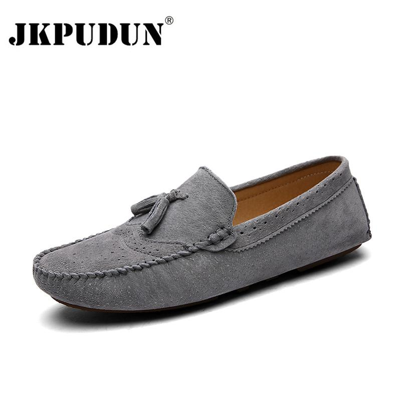52ccee7608ab JKPUDUN Designer Suede Leather Men Casual Shoes High Quality Soft Mens  Loafers Moccasins Italian Fashion Driving Shoes Luxury Formal Shoes Shoe  Shops From ...