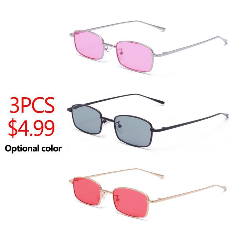 0a7d82b969 2018 Small Narrow Rectangle Sunglasses Women Men Brand Red Clear Lens  Skinny Slim Wire Retro Sun Glasses Shades Oculos Smith Sunglasses Sunglasses  At Night ...
