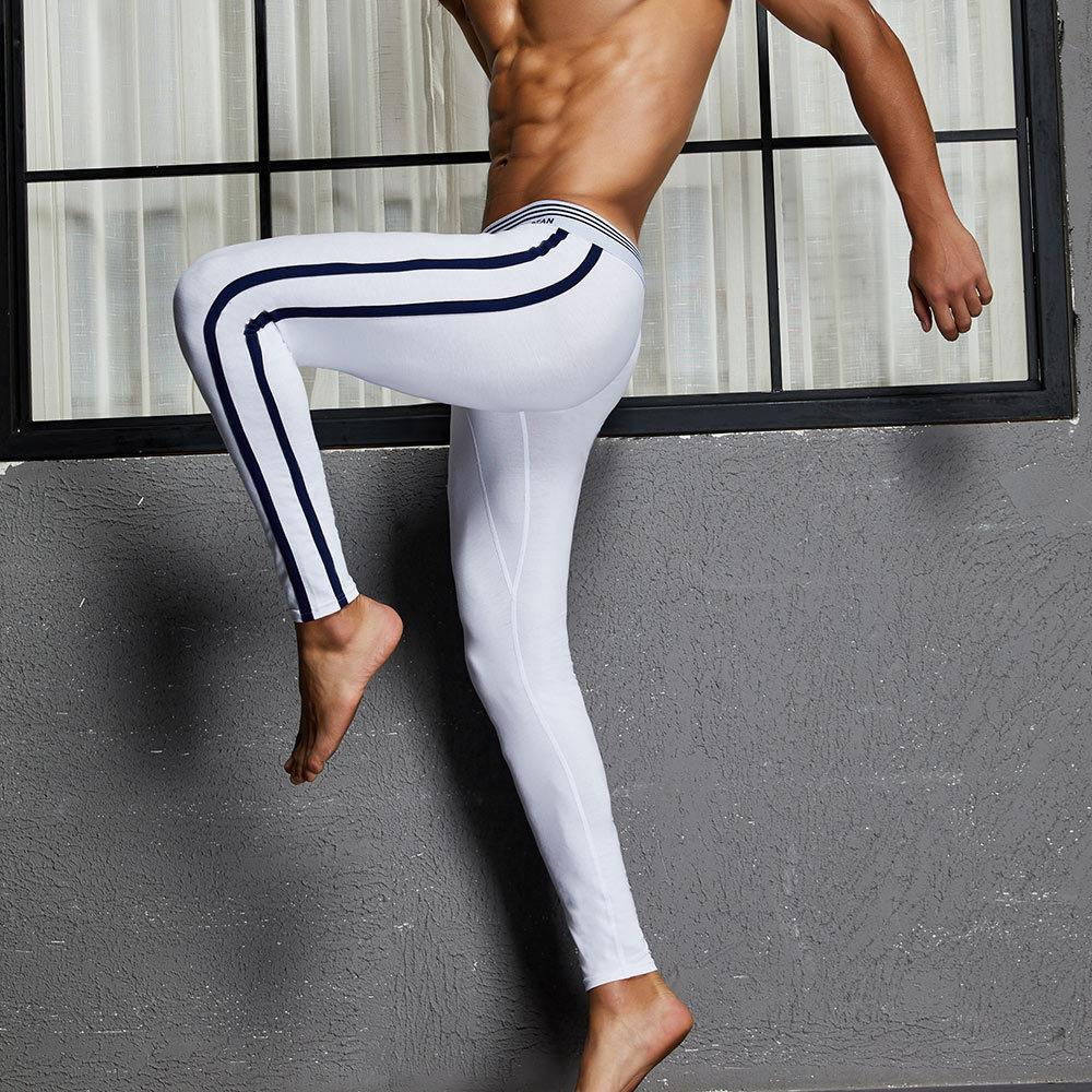 ae7ccf098d7546 2019 Men Sheer Tights Thermal Underwear Mens Long Underwear Cotton Sexy  Leggings Ropa Termica Hombre Winter Long John From Tbwish, $11.17 |  DHgate.Com