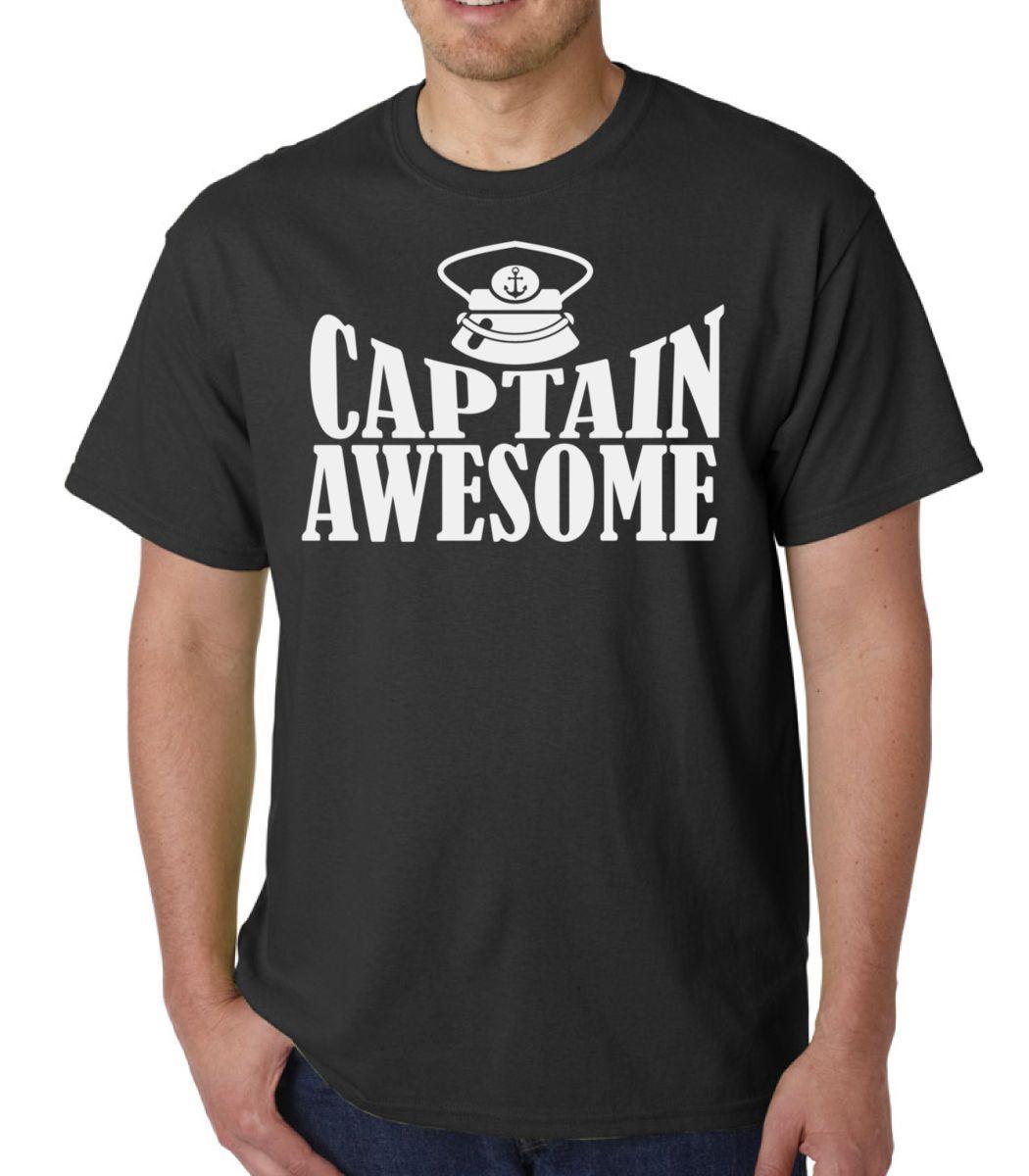 5222fa3565 Captain Awesome Fishing Shirt Funny Slogan Performance Fisherman Present  Gift T Shirt Men'S Premium Short Sleeve Fashion Custom Big Size Men Best Tee  Shirt ...
