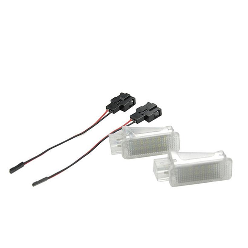Aucun Puits Porte Code Pour Voiture Sécurité Blanc Led Lumière Lampe Canbus 2x Porsche Intérieur Pied Accessoire De D'erreur Xénon 8nX0OkwP