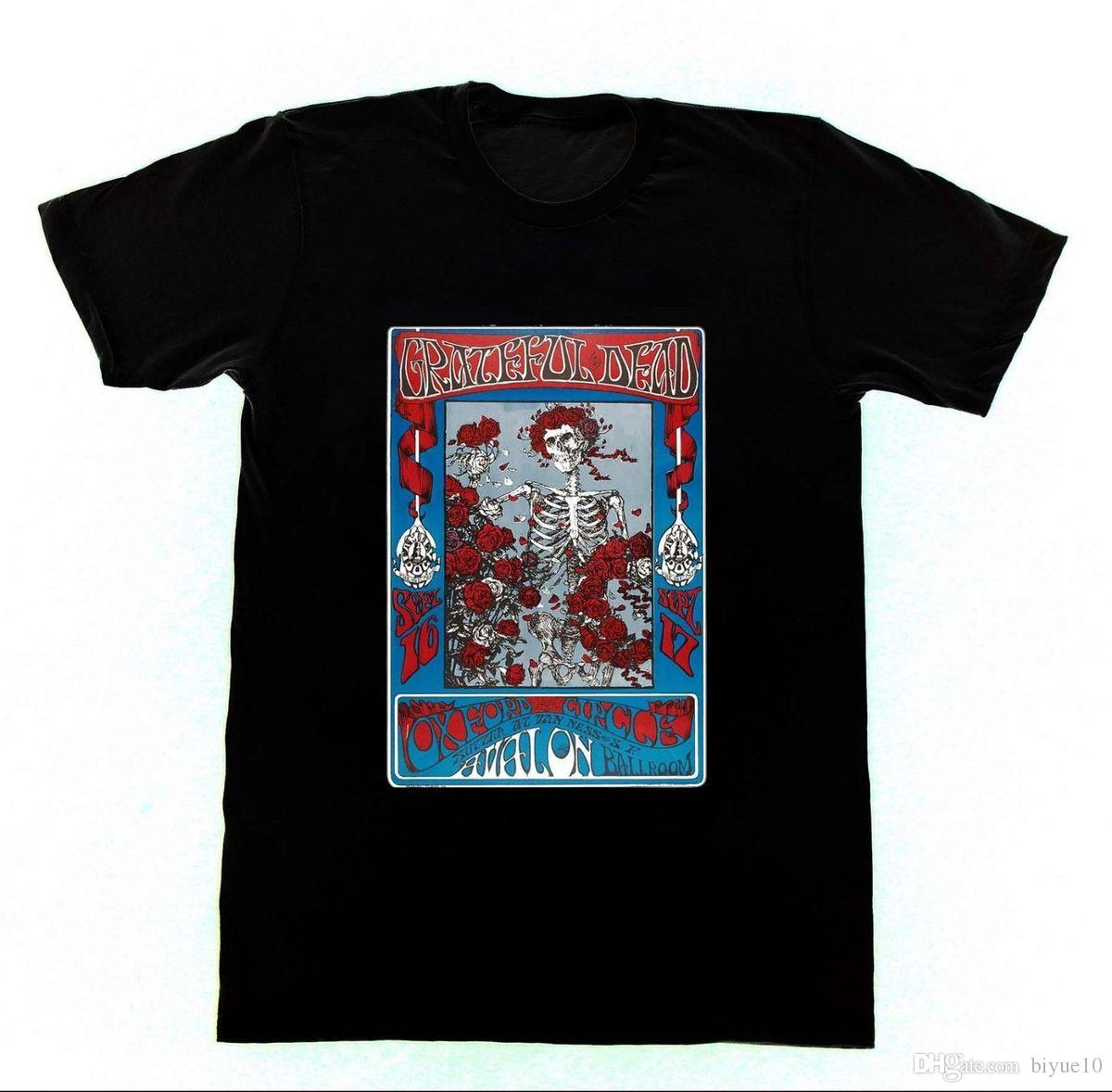 Grateful Dead T Shirt 13 Shirt Skeleton And Roses Jerry Garciaouse