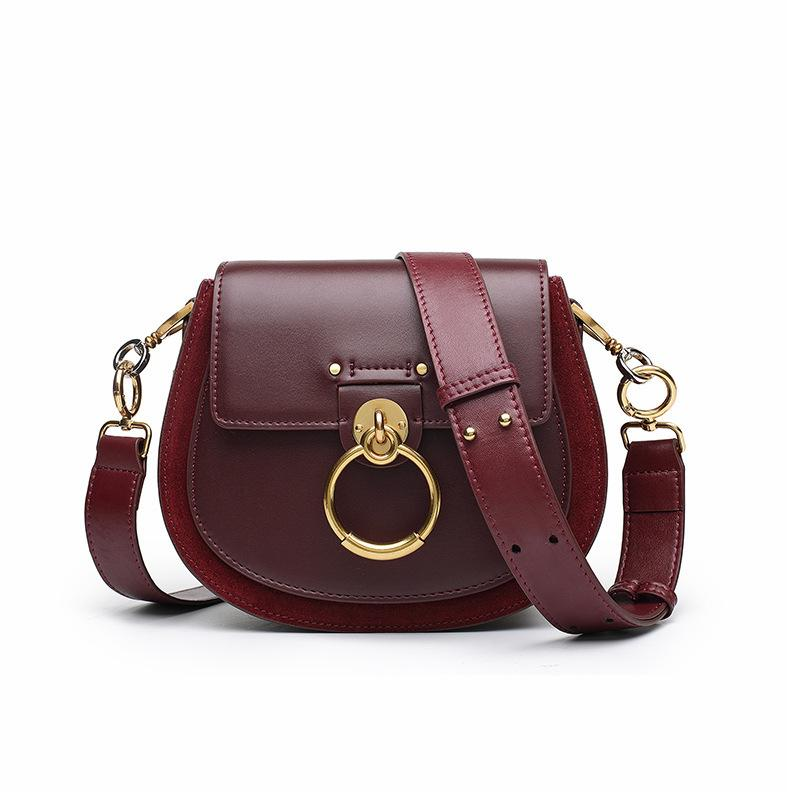 Lovely2019 Ring Season Piggy Saddle Package Small Square Package Single Shoulder Messenger Portable Genuine Leather Bag