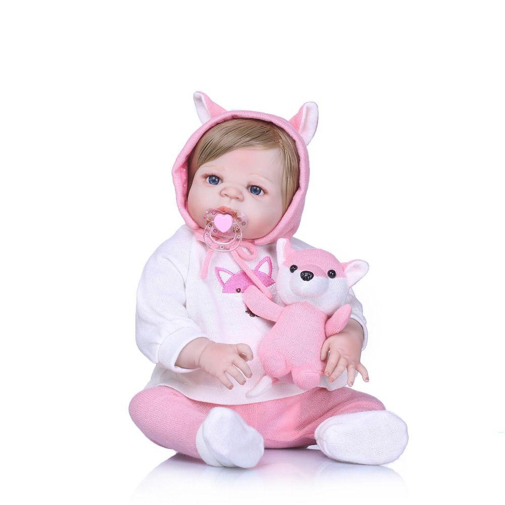 6972d254c3978b Bebe Reborn completa silicone vinil reborn menina bonecas bebe macio  realista boneca do bebê recém-nascido vivo moda brinquedos para meninas ...