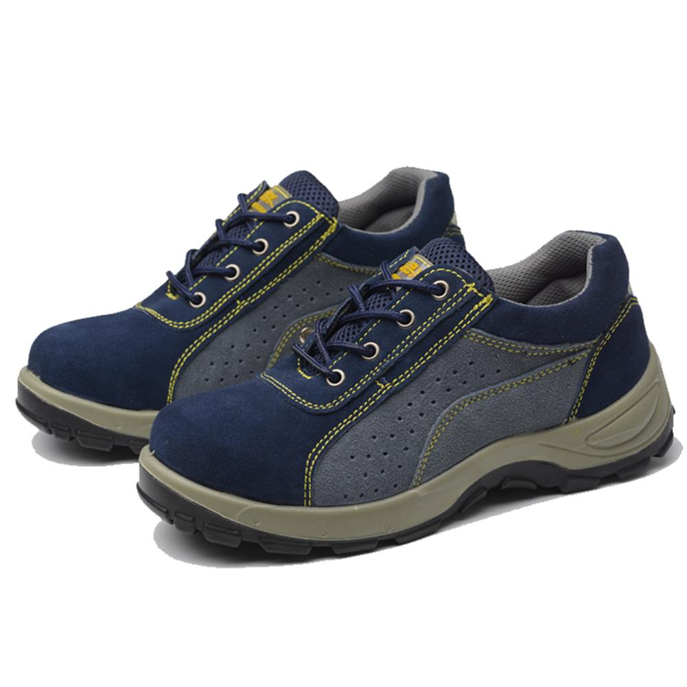 Top Quality Safety Work Shoes Men Boots Anti Smash Leather