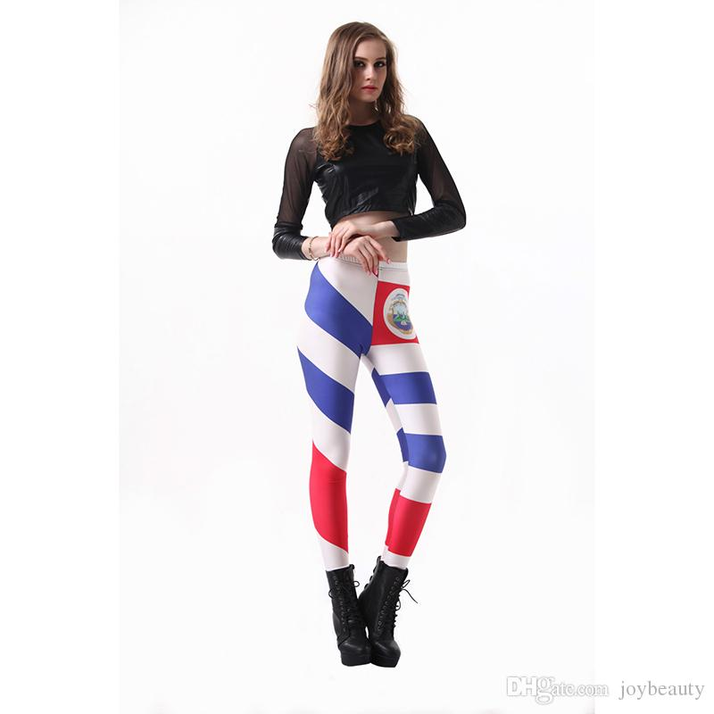 2019 Women Leggings Costa Rica Flag 3D Graphic Full Printed Comfortable  Yoga Wear Pants Lady Stretchy Jeggings Girls Casual Trousers RLLgs3221 From  ... 3e77e676af9