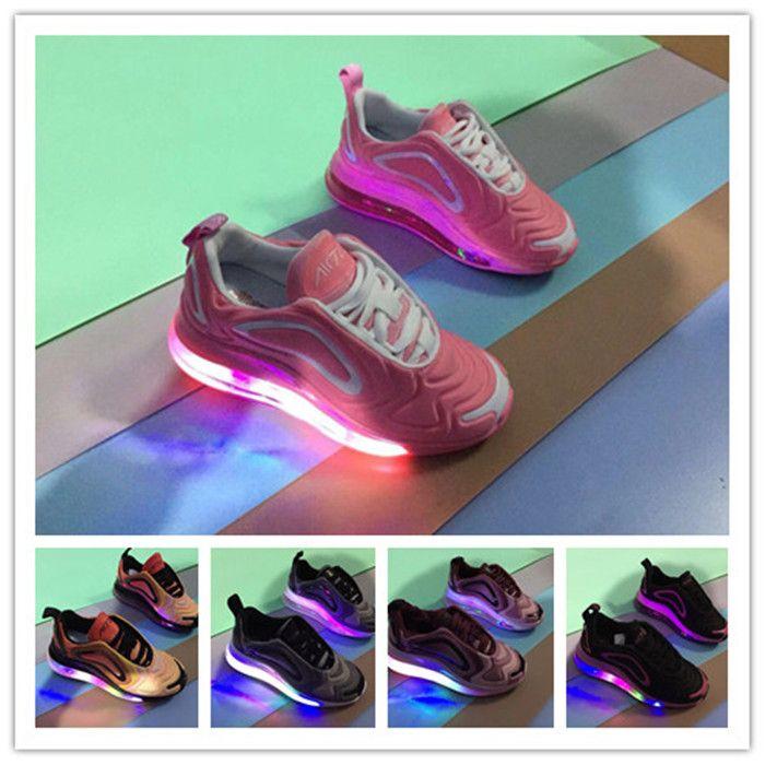 61fe34d7eff5 Designer Kids 720 Children Running Shoes Led Luminous Glowing 720s  Chaussures Pour Enfants Gilrs Boys Breathable Toddler Sneakers Preschool Tennis  Shoes ...