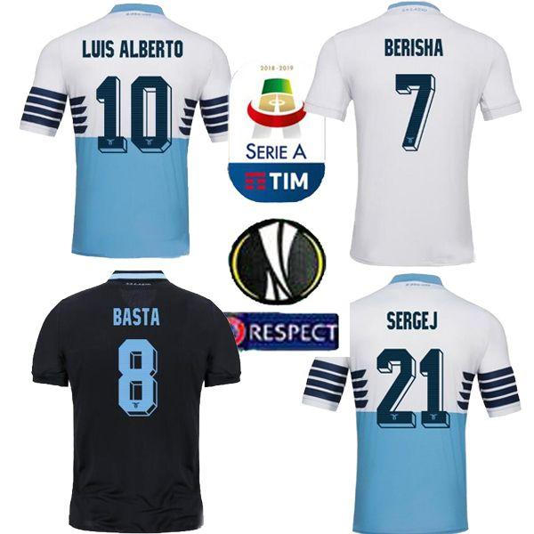 b061f317d0 Compre 2019 Lazio HOME Azul BASTA 9 Camisa De Futebol 18 19 Lácio LUCAS D  JORD JEVIC 10 F.ANDERSON IMMOBILE Personalizado A Camisa De Futebol  Valentão De ...