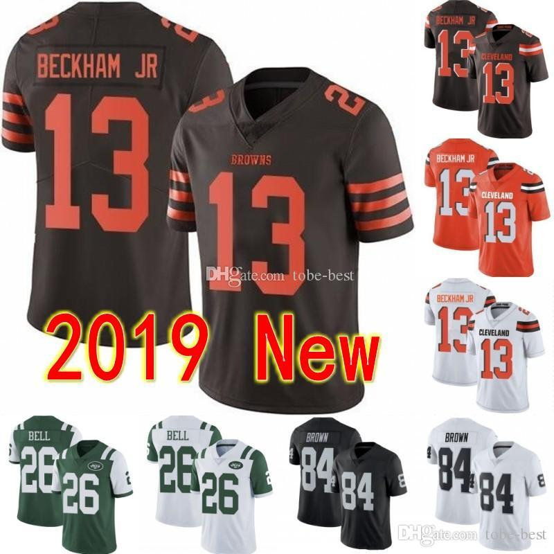 separation shoes 5f85b e1490 2019 New Cleveland 13 Odell Beckham Jr Browns Jersey New York 26 Le'Veon  Bell Jets Oakland 84 Antonio Brown Raiders 10 DeSean Jackson E