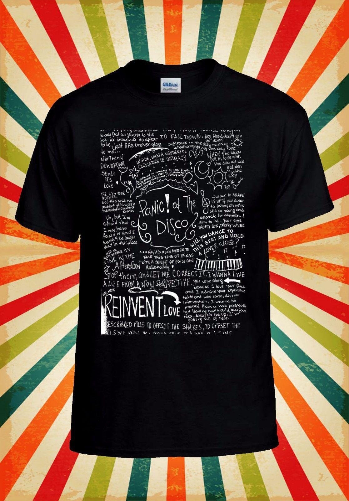 Panic At The Disco Band Lyrics T Shirt 1875 Retro Vintage Classic T