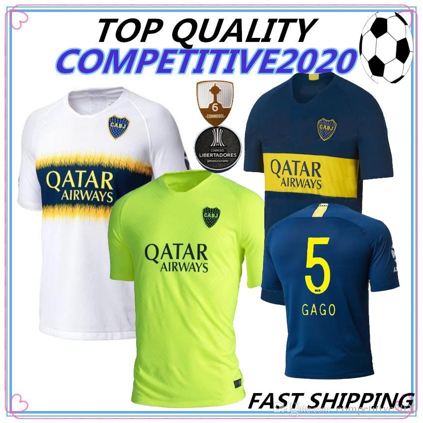 f41d6e33b5 Compre 18 19 Top Quality Boca Juniors Camisas De Futebol 2018 2019 GAGO  TEVEZ CARDONA BENEDETTO Camisa De Futebol Boca Junior PAVON Camisetas De  Futbol De ...