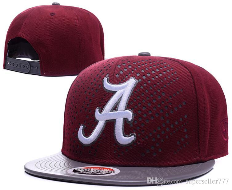 305ad81af New Caps 2019 College Football Snapback Hats Cap Red Color Alabama Team  Hats Mix Match Order All Caps Top Quality Hat Wholesale 01