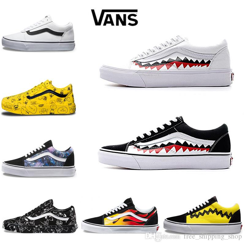 Hombre Casuales Skool Vans Compre Mujer Rock Flame Old Zapatos Yacht DW29EHI