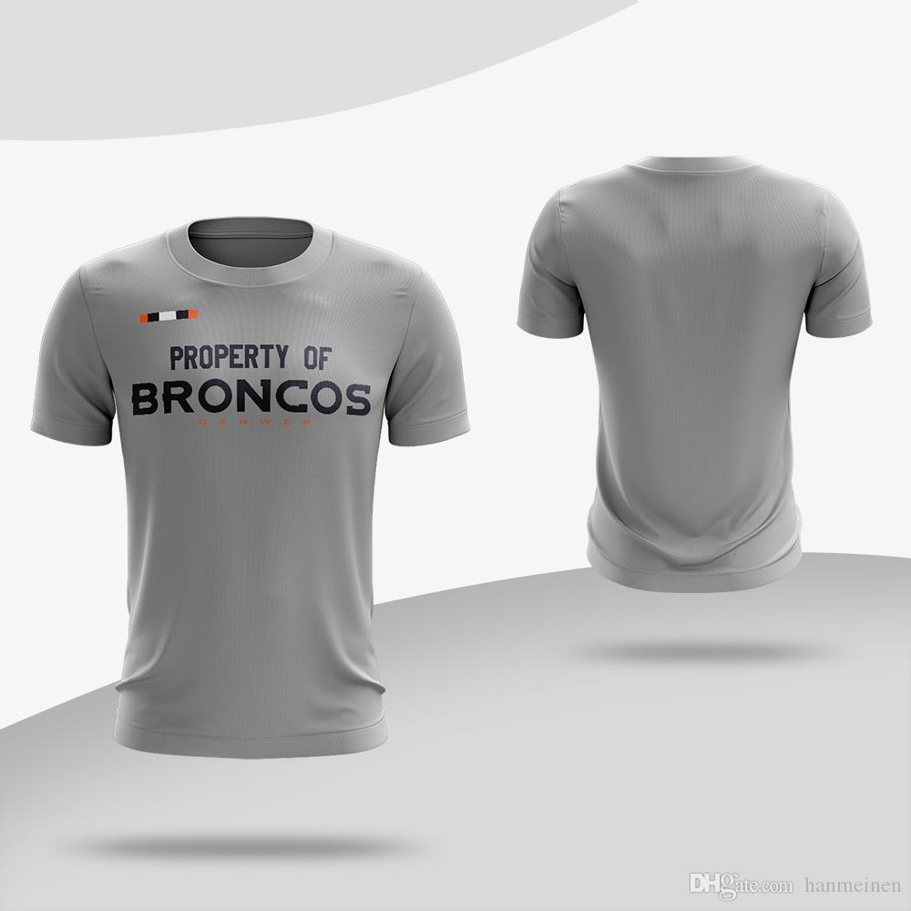 a9afce97 Men s Women Youth shirts Denver Broncos Sideline Property Of Facility  T-Shirt - Heathered Gray Sports quick-drying T-shirts