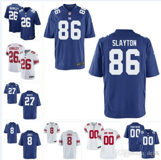 quality design fea84 9eb57 8 Daniel Jones 97 Dexter Lawrence NY Giants Jersey Deandre Baker Saquon  Barkley Lawrence Taylor custom american football jerseys white 4xl