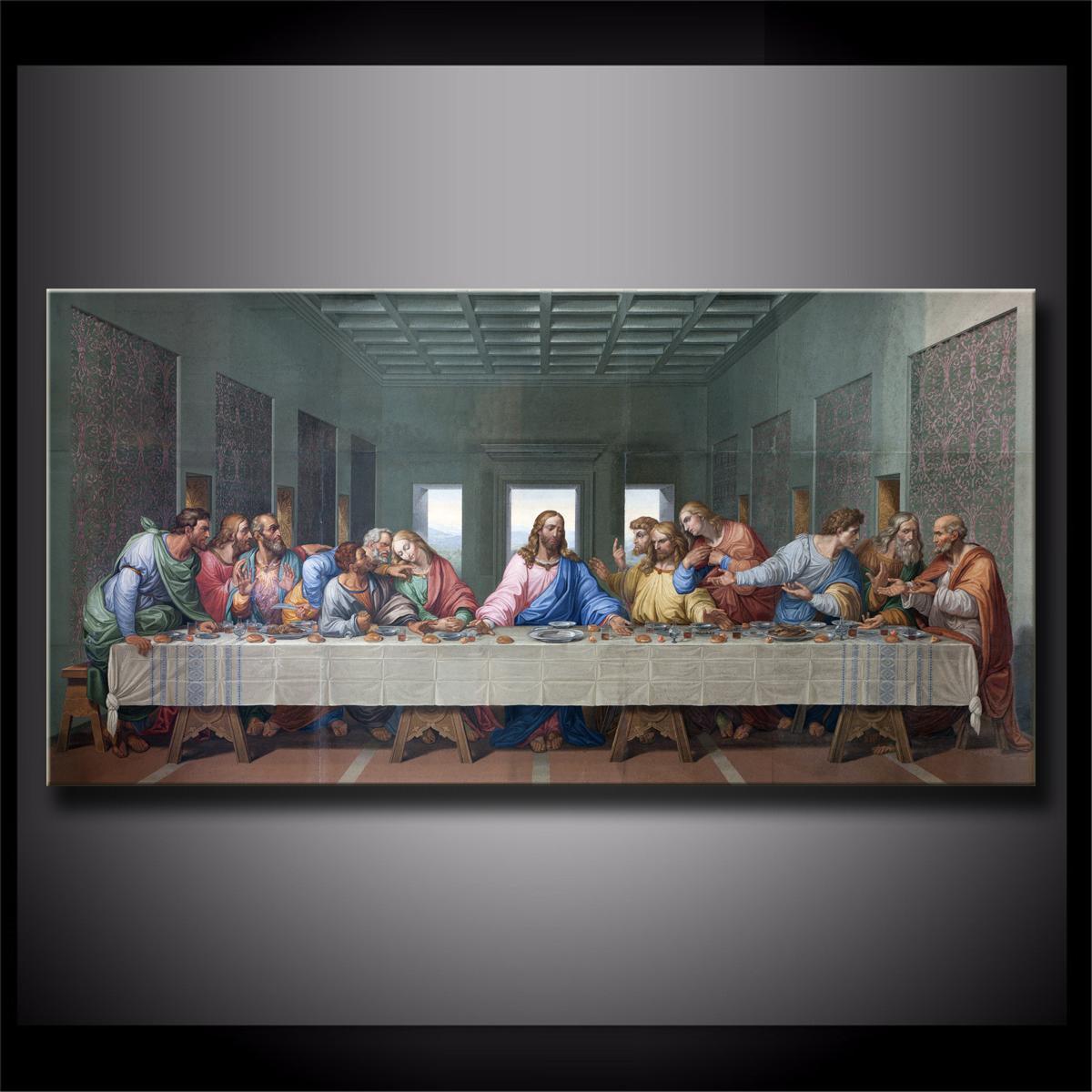 Unframed framed the last supper leonardo da vincilast supperjesus1 pieces canvas prints wall art oil painting home decor 24x48