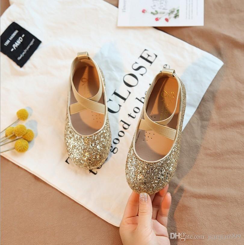 fb4eda6077824 Acheter Printemps Et Automne De Chaussures Filles Princesse Nouvelle  Version Coréenne De La Performance Petites Chaussures Pour Enfants Bouche  Peu Profonde ...