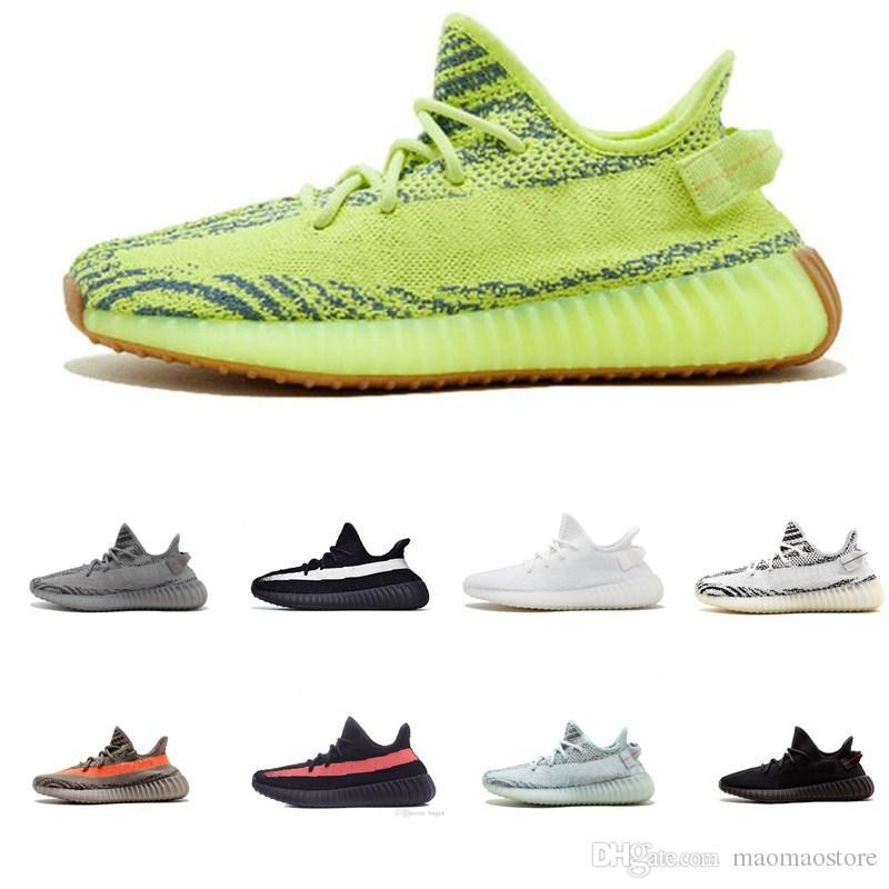 1beb6972349 Compre Adidas Supreme Yeezy Boost 350 V2 2019 Qualidade Best Offersa V2  Homens Estáticos Manteiga De Gergelim Cinza Preto Amarelo Mulheres Designer  De ...