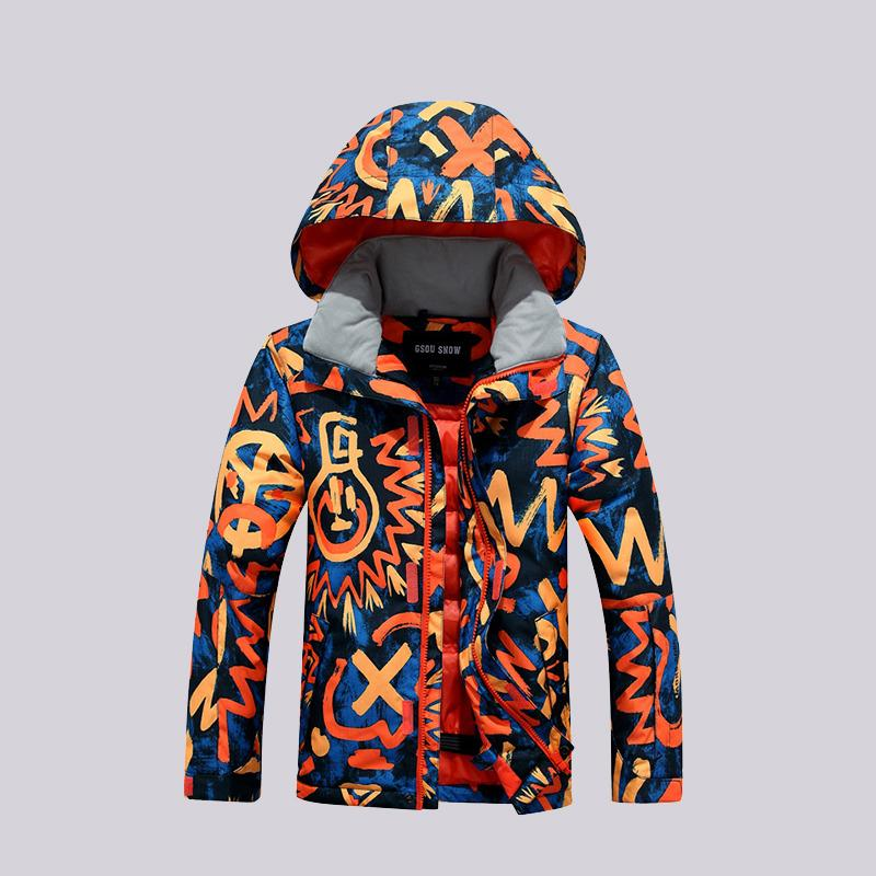 1f8d4ecba GSOU SNOW Double Single Board Children s Ski Suit Outdoor Windproof ...