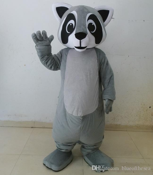 2019 High quality hot grey colour raccoon mascot racoon costume for adult  to wear for sale