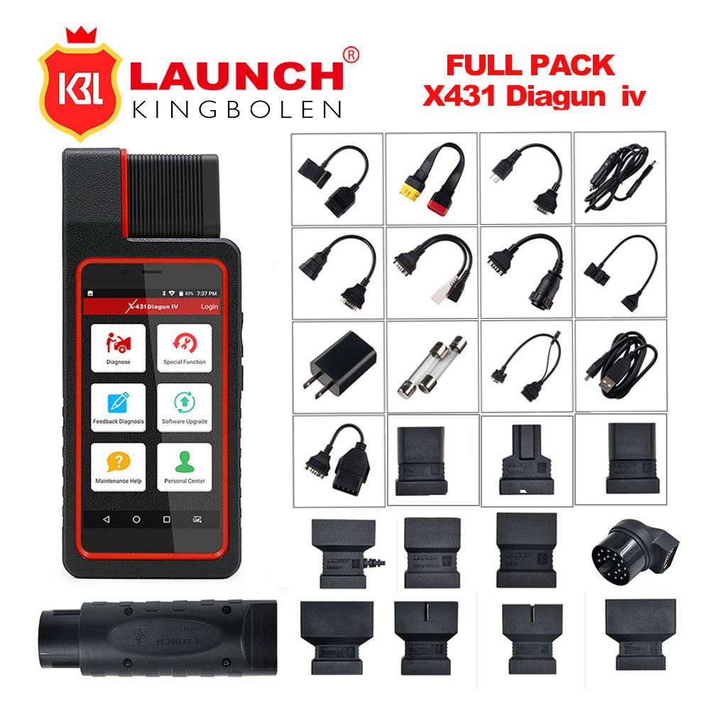 Launch X431 Diagun-IV Auto OBD2 Diagnostic Tool with Wifi Bluetooth Launch x-431 Diagun IV Full Systems With 11 Special Function