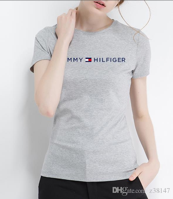 New Tm Women Solid Color T Shirt Mens Multiple Colors 100% Cotton T Shirts  Summer Brand Letter Print Tee Tops Boy Skate Tshirt High Quality Best Site  For T ... a250e6da2