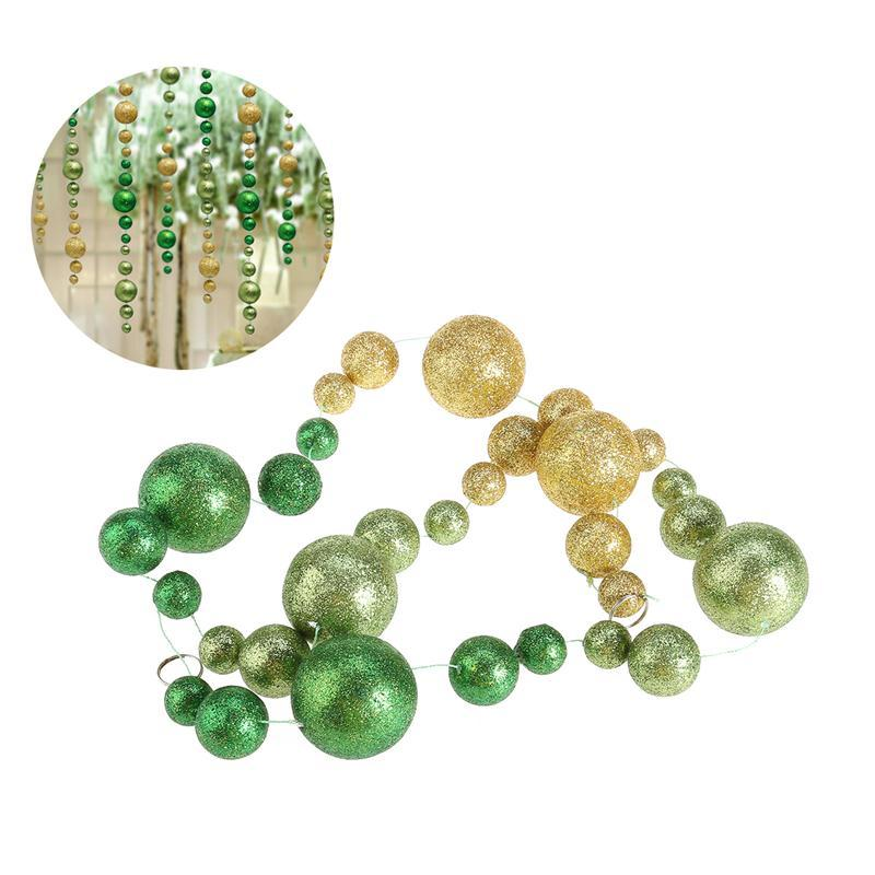 1.2M Plating Exquisite Glitter Christmas Ball Ornaments Pendants for Wedding Party Decoration