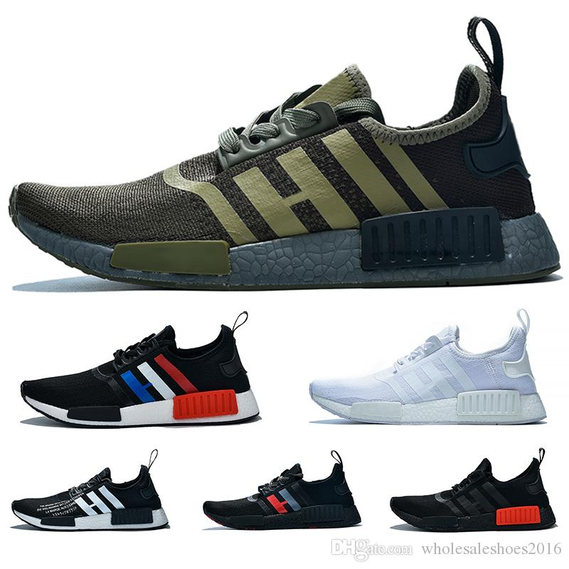 f08dd108fd80b 2019 NMD R1 Boost Casual Running Shoes For Men Women Atmos White Black  Yellow Olive Cheap Designer Trainer Sport Sneaker Discount Sale From ...
