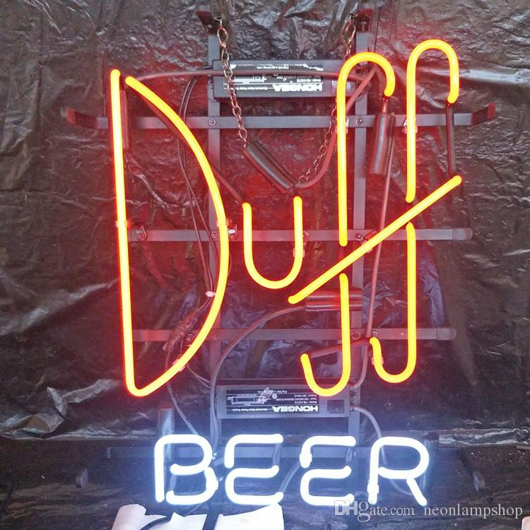 Duff BEER LED Neon Sign Light Outdoor Bar Club Display di intrattenimento Decorazione Neon Lamp Light Metal Frame 17 '' 20 '' 24 '' 30 ''